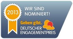 Sticker Deutsche Engagementpreis 2013